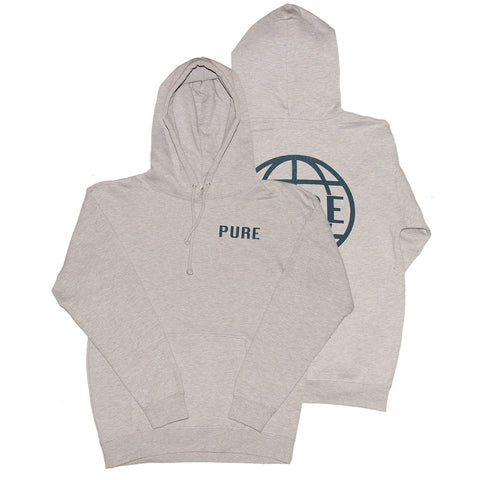 Pure Worldwide Pullover Hoodie Heather Grey PURE Fall 2018