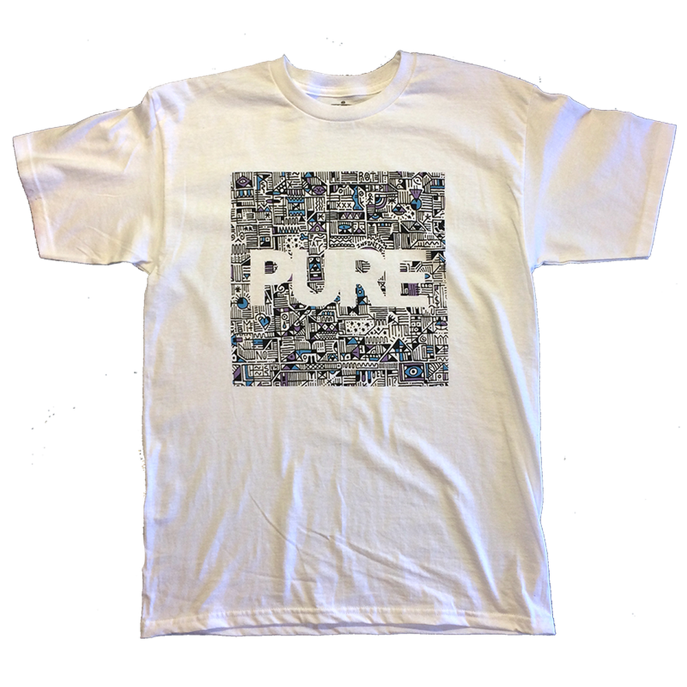 Pure X Vinnie Hager Block Youth T-Shirt White
