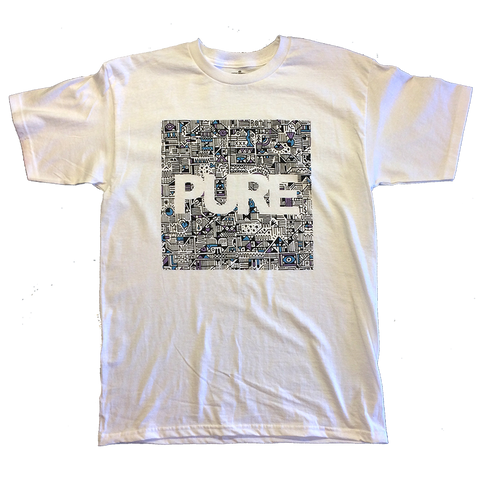 Pure X Vinnie Hager Block Youth T-Shirt white pure board shop