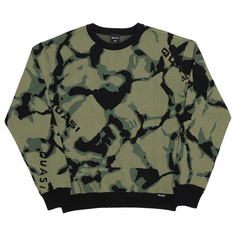 Quasi Skateboards Quasi Camo Sweater Pure Board Shop