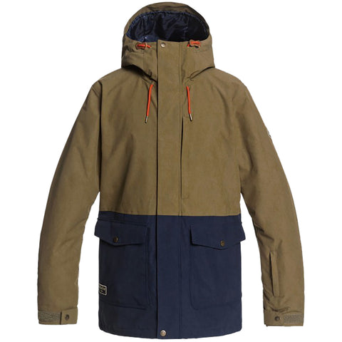 Quiksilver Horizon Insulated Snowboard Jacket Military Olive cqw0 eqytj03271 pure board shop
