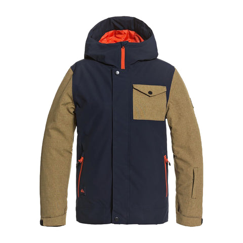 Quiksilver Ridge Boys Snow Jacket Navy Blazer BYJ0 eqbtj03114 Pure Board Shop
