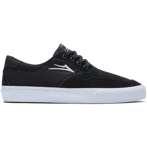 Lakai Riley 3 Skate Shoes Black White Pure Board Shop