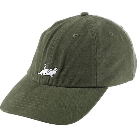 RIPNDIP Castanza 6 Panel Dad Hat dark green