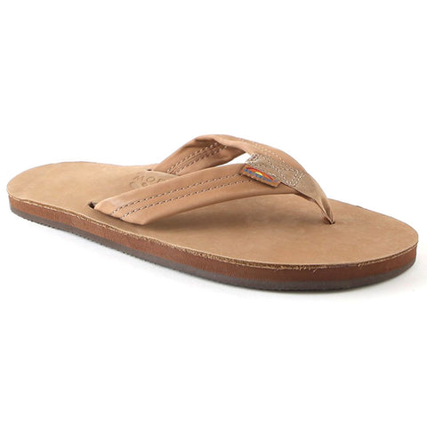 Rainbow Premium Leather Mens Sandals Flip Flops