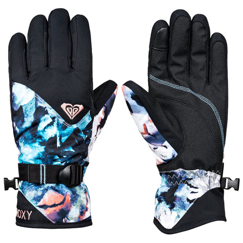 Roxy Jetty Womens Snow Gloves BACHELOR BUTTON WATER OF LOVE BGZ1 erjhn03097bgz1 roxy snow 2019 pure board shop