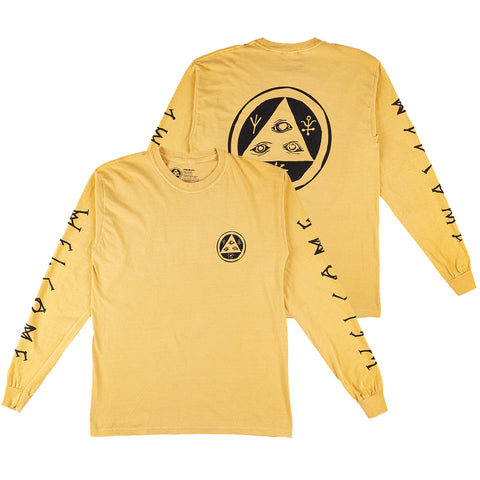 Welcome Tali-Scawl Garment Dyed Long Sleeve T-Shirt