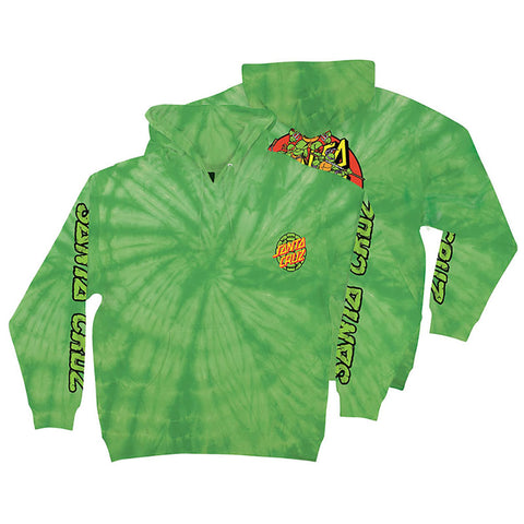 Santa Cruz X Teenage Mutant Ninja Turtles Power Pullover Hoodie Spider Lime 44251909 pure board shop