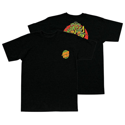 Santa Cruz X Teenage Mutant Ninja Turtles Power T Shirt BLACK 44154214 pure board shop