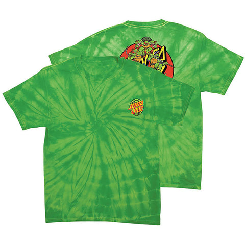 Santa Cruz X Teenage Mutant Ninja Turtles Power T Shirt spider lime 44154214 both pure board shop