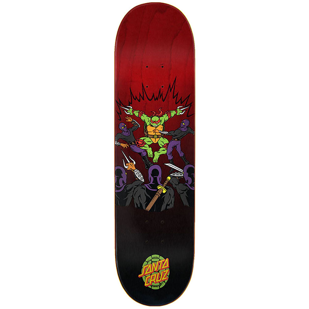 Santa Cruz X Teenage Mutant Ninja Turtles Raphael Skateboard Deck 8.25