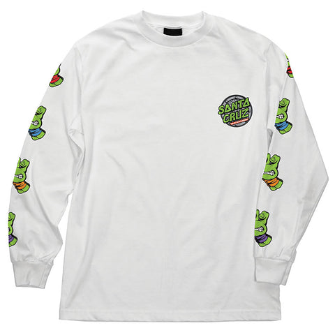 Santa Cruz X Teenage Mutant Ninja Turtles Sewer Dot Long Sleeve T Shirt White 44154212 pure board shop
