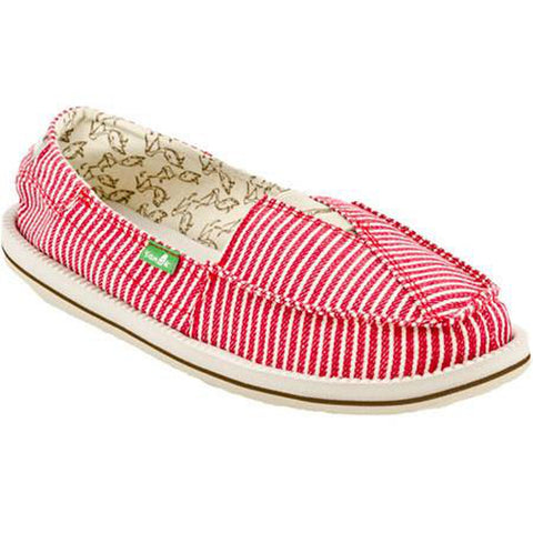 Sanuk Castaway Women's Casual Shoe Sandal Red Stripe - Pure Boardshop