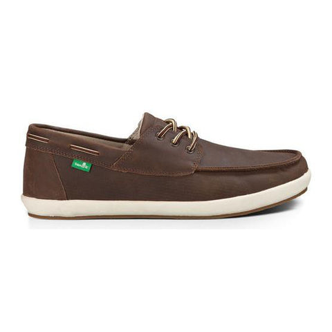 Sanuk Men's Casa Barco Deluxe Casual Shoes Leather Brown