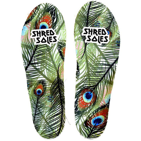 Shred Soles Full Length Skateboarding Lite Insoles Peacock pure board shop