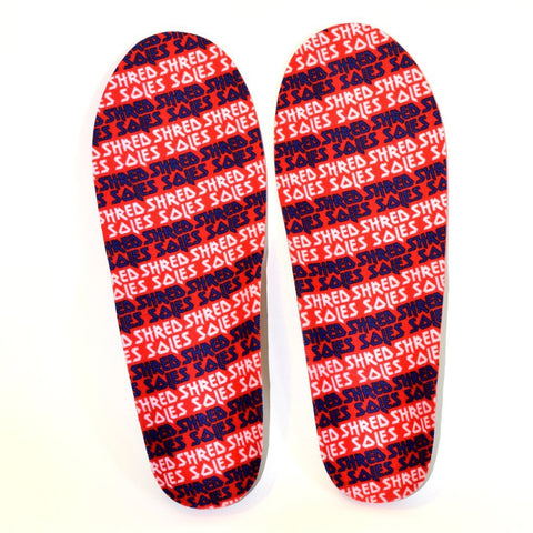 Shred Soles Maximum Performance Snowboard Insoles Red/Black pure board shop