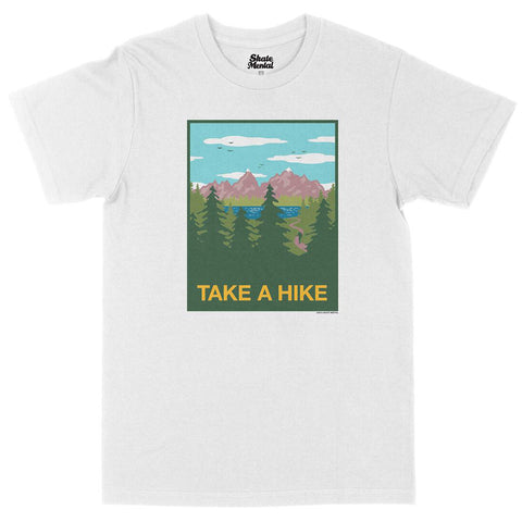 Skate Mental Take A Hike T-Shirt White Pure Board Shop