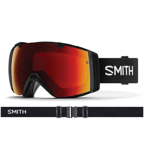 Smith I/O Snow Goggle 2018 Black with ChromaPop Sun Red Mirror Lens pure board shop