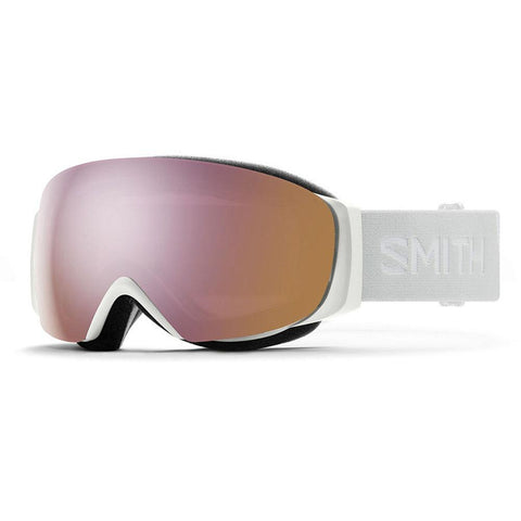 Smith I O Mag Small Snow Goggle M0071430F99M5 White Vapor  ChromaPop Everyday Rose Gold Mirror Pure Board Shop