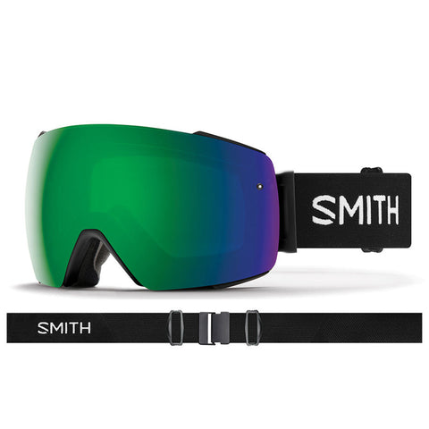 Smith I O Mag Snow Goggle Black with ChromaPop Sun Green Lens IM7CPSBK19 pure board shop