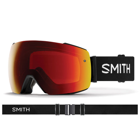 Smith I O Mag Snow Goggle Black with ChromaPop Sun Red Lens IM7CPRBK19 pure board shop