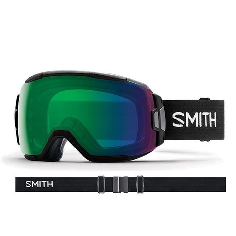 Smith Vice Snow Goggle 2018 Black with ChromaPop Everyday Green Mirror Lens pure board shop