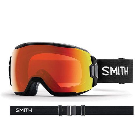 Smith Vice Snow Goggle 2018 Black with ChromaPop Everyday Red Mirror Lens pure board shop