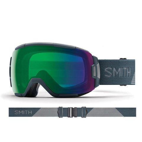 Smith Vice Snow Goggle 2018 Thunder Split with ChromaPop Everyday Green Mirror Lens pure board shop