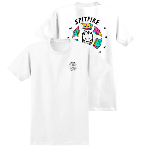 Spitfire X Skate Like A Girl Fill T Shirt White pure board shop