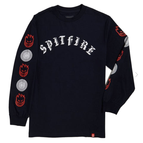 Spitfire Wheels Spitfire Old E Combo Long Sleeve T-Shirt Pure Board Shop