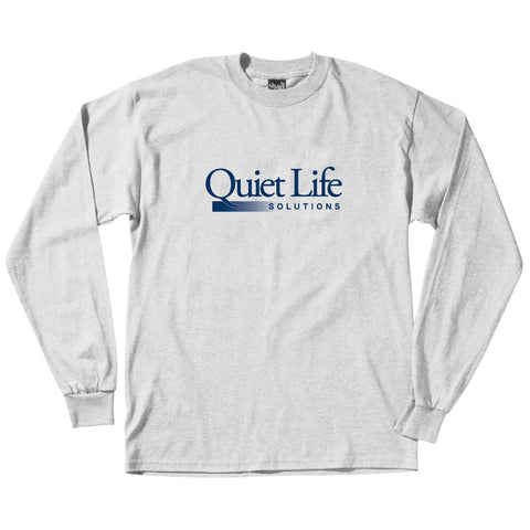 The Quiet Life Solutions Long Sleeve T Shirt Ash 20SPD2-2117_1_ASH pure board shop