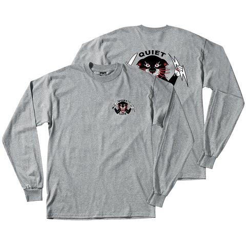 The Quiet Life Ben Venom Panther Long Sleeve T Shirt Heather Grey The Quiet Life Fall 2018 pure board shop