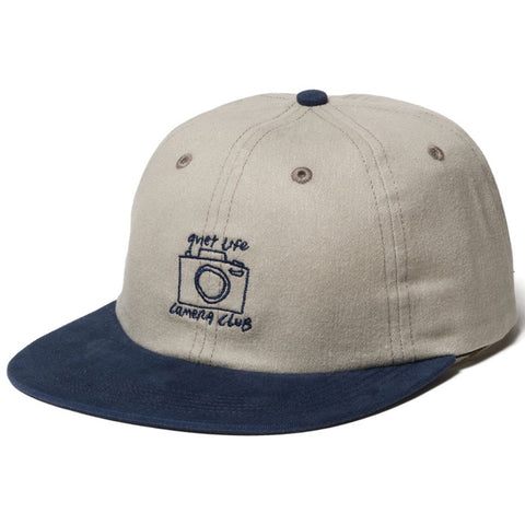The Quiet Life Camera Club Polo 6 Panel Hat Stone Navy The Quiet Life Spring 2019 pure boards shop