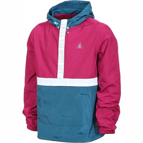 The Quiet Life City Limits Anorak Jacket Magenta/Teal pure board shop