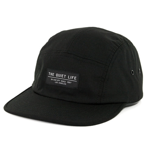 The Quiet Life Foundation 5 Panel Camp Hat Black The Quiet Life Fall 2018 pure board shop