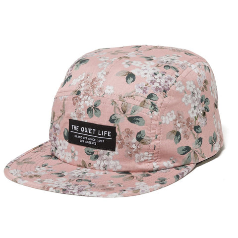 The Quiet Life Liberty Floral 5 Panel Camper Hat Pink The Quiet Life 2018 pure board shop