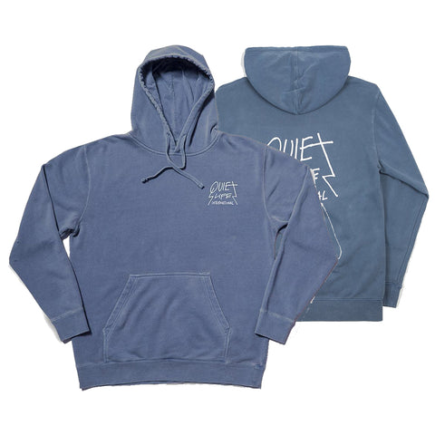 The Quiet Life Metal Logo Pullover Hoodie Slate Pigment Dye The Quiet Life Fall 2018 pure board shop