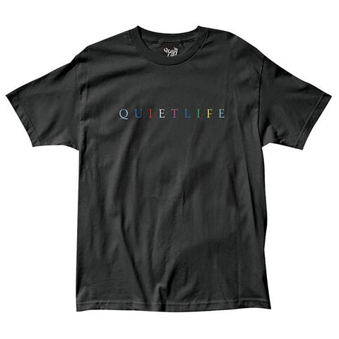 The Quiet Life Rainbow Premium T Shirt Black Quiet Life Spring 2019 pure board shop