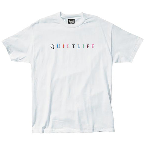 The Quiet Life Rainbow Premium T Shirt White Quiet Life Spring 2019 pure board shop