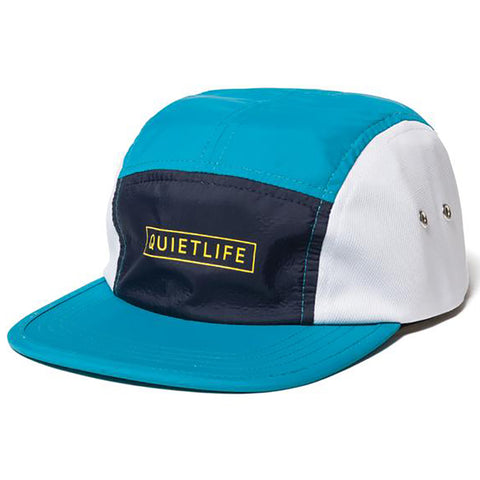 The Quiet Life Ranier 5 Panel Camp Hat Aqua Navy White The Quiet Life Spring 2019 pure board shop