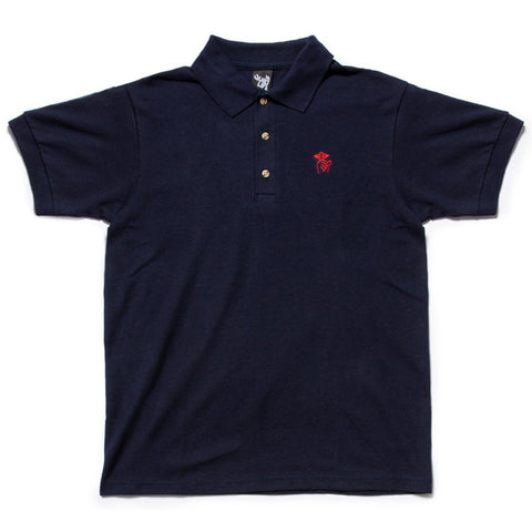 The Quiet Life Shhh Polo Shirt Navy The Quiet Life Spring 2019 pure board shop