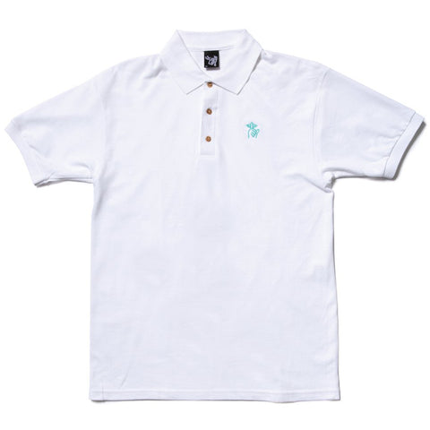 The Quiet Life Shhh Polo Shirt White The Quiet Life Spring 2019 pure board shop