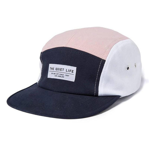 The quiet life boardwalk 5 panel camp hat pink navy the quiet life summer 2018 pure board shop