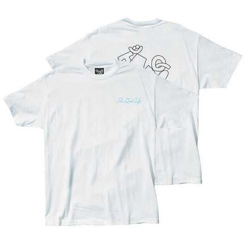 The quiet life gibbler t shirt White the quiet life summer 2018 will bryant pure board shop