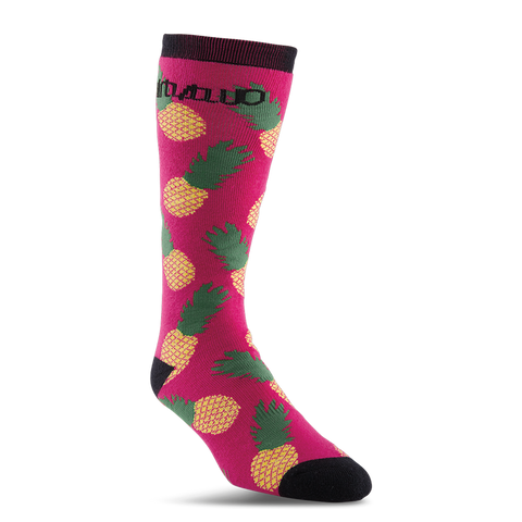 ThirtyTwo Frutas Womens Snowboard Socks Hot Pink
