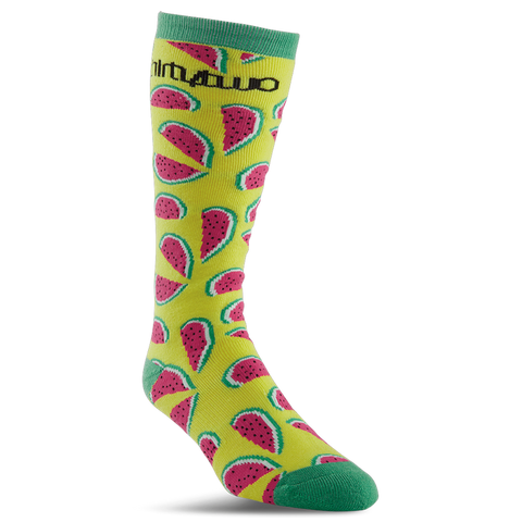 ThirtyTwo Frutas Womens Snowboard Socks Yellow