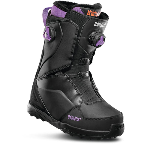 ThirtyTwo Lashed Double Boa Womens Snowboard Boot 2020 Black Purple 8205000182-550 pure board shop