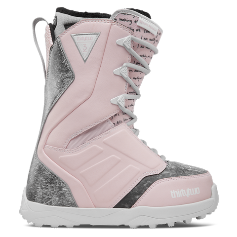 ThirtyTwo Lashed Melancon Womens Snowboard Boot 2018 Grey/Pink/White pure board shop