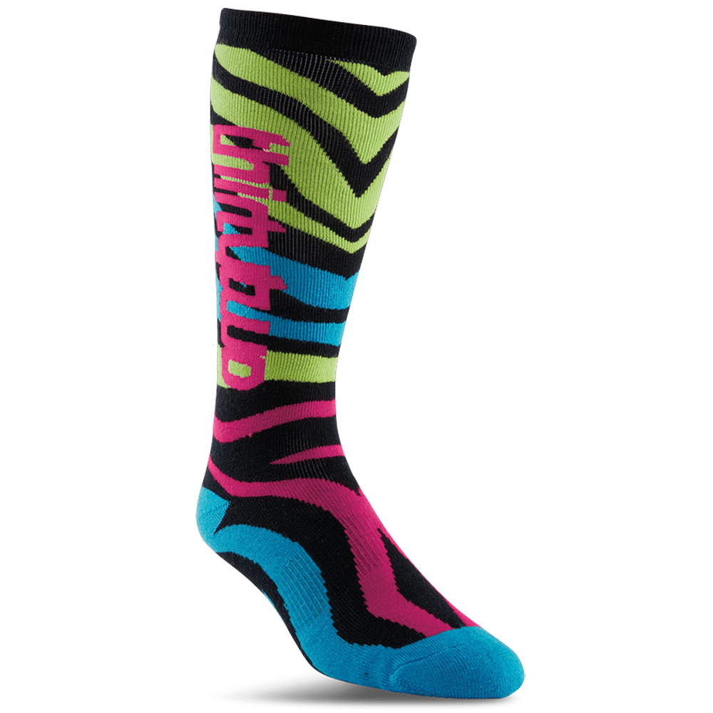 ThirtyTwo Metrix Womens Snowboard Socks Neon