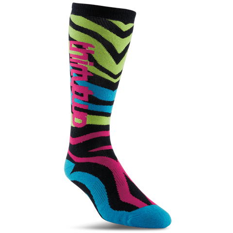 ThirtyTwo Metrix Womens Snowboard Socks Neon - Pure Boardshop